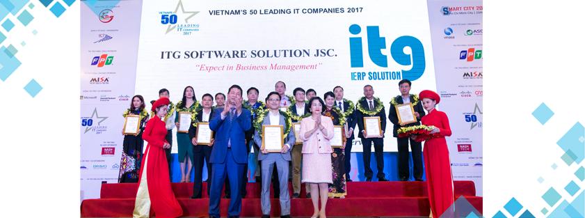 ITG duoc vinh danh TOP 50 doanh nghiep CNTT Viet Nam 2017